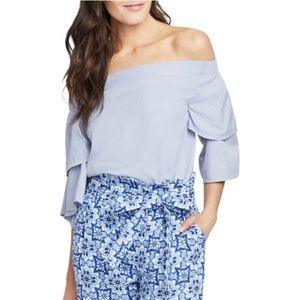 RACHEL Rachel Roy Large Blue Off Shoulder Top 3W39